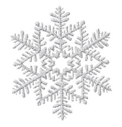 Ezüst Glitteres Hópelyhek Függő Dekoráció - 16 cm, 3 db-os