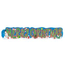 Merry Christmas Feliratú Mintás Banner - 136 cm-es