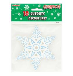 Hópehely Dekoráció Karácsonyra - 10 db-os