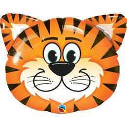 30 inch-es Tickled Tiger - Tigris Fej Héliumos Fólia Lufi