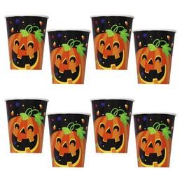 Tök és Szellem Mintás Parti Pohár Halloween-re, 270 ml, 8 db
