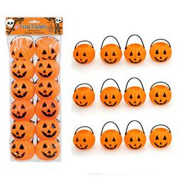Tökfej Mintás Mini Üst Dekoráció Halloween-re, 12 db-os