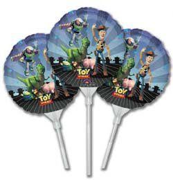 9 inch-es Toy Story Gang Pálcás Fólia Lufi - 3 db-os