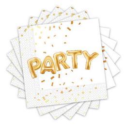 Arany Konfettis Party Mintás Party Szalvéta - 33 cm x 33 cm, 20 db-os