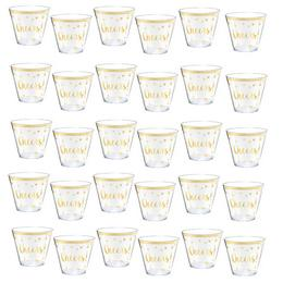 Cheers Feliratú Arany Konfettis Parti Pohár Szilveszterre - 266 ml, 30 db-os