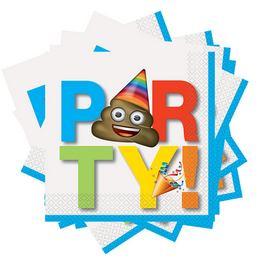 Emoji - Party Feliratú Parti Szalvéta - 33 cm x 33 cm, 16 db-os