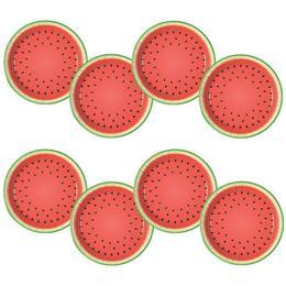 Görögdinnye Mintás Party Tányér - 23 cm, 8 db-os