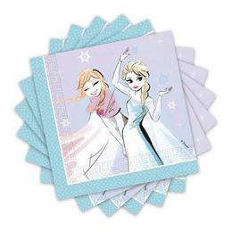 Jégvarázs - Frozen Sparkle Party Szalvéta - 33 cm x 33 cm, 20 db-os