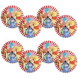 Micimackó és Barátai - Winnie The Pooh Party Tányér - 23 cm, 8 db-os