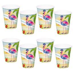 Nyaraló Flamingó Parti Pohár - 350 ml, 8 db-os