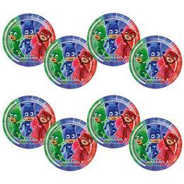 Pizsihősök - PJ Masks Party Tányér - 23 cm, 8 db-os