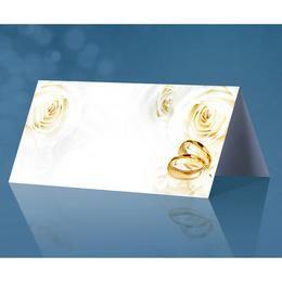Ültetőkártya Rózsa és Gyűrű Mintával - 25 db-os