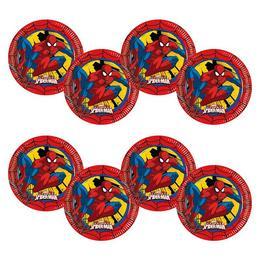 Ultimate Spiderman Power - Pókember Parti Tányér - 8 db-os, 23 cm