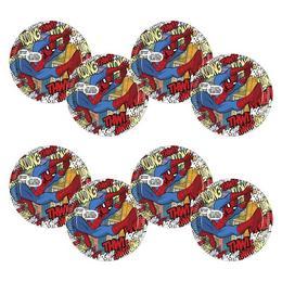 Pókember - Ultimate Spiderman Parti Tányér - 23 cm, 8 db-os