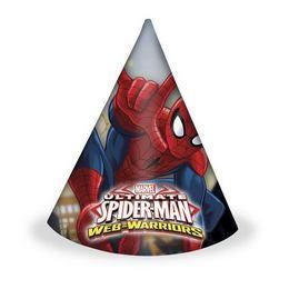 Ultimate Spiderman Web-Warriors - Pókember Parti Kalap - 6 db-os