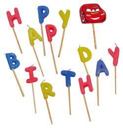 Verdák Happy Birthday Szülinapi Parti Gyertya Szett