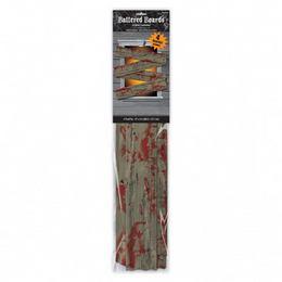 Véres Hatású Deszka Ablakdekoráció - 69 x 14 cm, 4 db