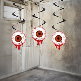 Véres Szemgolyó Spirális Függő Dekoráció Halloweenre