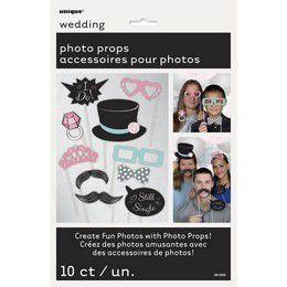 Vicces Kiegészítő Szett Esküvői Fotózáshoz - 10 db-os