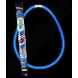 Világító Party Nyaklánc, Kék 2 x 27,5 cm-es