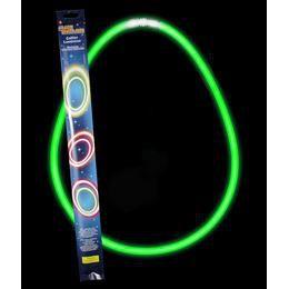 Világító Party Nyaklánc, Zöld 2 x 27,5 cm-es
