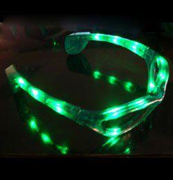 Zöld Világító LED-es Parti Szemüveg
