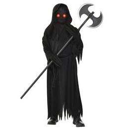 Világító Szemű Kaszás Halloween Jelmez Gyerekeknek, 12-14 Éveseknek