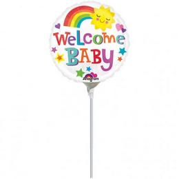 9 inch-es Welcome Baby Bright & Bold Mini Shape Fólia Lufi