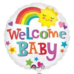 18 inch-es Welcome Baby Bright & Bold Fólia Lufi Babaszületésre