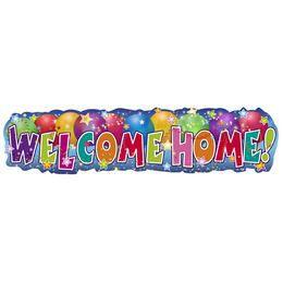 Welcome Home! - Feliratú Banner Dekoráció