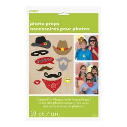Vicces Western Kiegészítő Szett Fotózáshoz - 10 db-os