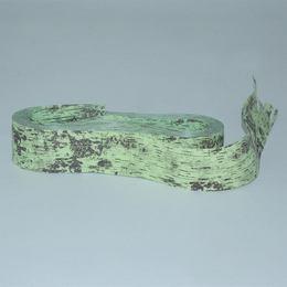 Zöld Fakéreg Hatású Dekorációs Díszítő Szalag - 25 mm x 15 m
