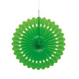 Zöld Színű Legyező Függő Dekoráció - 41 cm-es