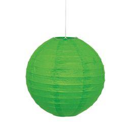 Zöld Színű Parti Lampion - 25 cm-es