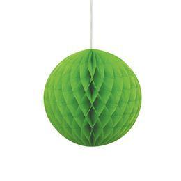 Zöld Színű Parti Méhsejtpapír Gömb - 20 cm