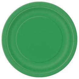 Emerald Green Papír Parti Tányér - 23 cm, 8 db-os
