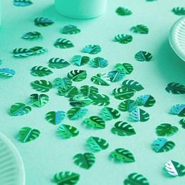Zöld Színű Trópusi Levél Konfetti