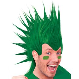 Zöld Színű Unisex Tarajos Punk Drukker Parti Paróka