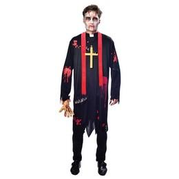 Zombi Plébános Jelmez Halloween-re, L