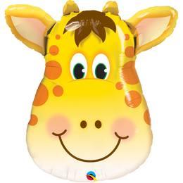 32 inch-es Jolly Giraffe - Zsiráf Fej Héliumos Fólia Lufi