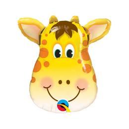 14 inch-es Jolly Giraffe - Zsiráf Fej Fólia Lufi Pálcán